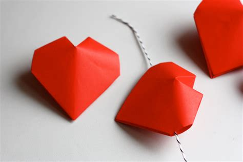 3d hearts origami 3d origami hearts how about orange