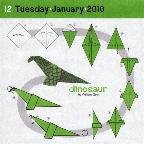 Dinosaur Origami 171 Embroidery Origami