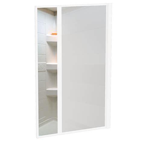opaque shower doors nautilus 57 quot x48 quot rv shower door opaque plain white