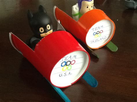 paper crafts for boys olympic play paper cup bobsled cool craft idea