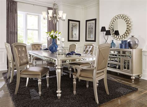 arsenia mirrored dining room furniture set