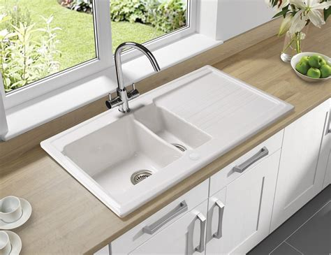 ceramic sinks kitchen astracast equinox 1 5 bowl white ceramic inset kitchen