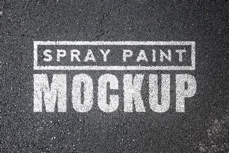 spray paint mockup spray paint mockups vol 1 medialoot