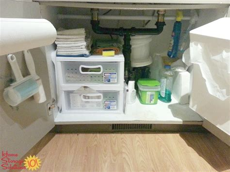 kitchen sink storage ideas kitchen sink cabinet organization ideas you can use
