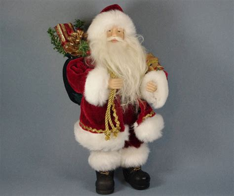 santa decorations quot traditional santa with gifts quot santa claus figure