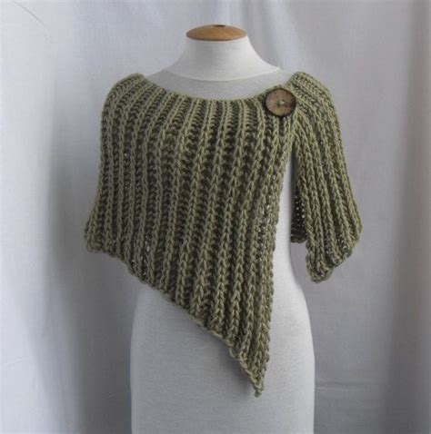 what does wrap 1 in knitting knitted wrap poncho shawl with one button dress skirt