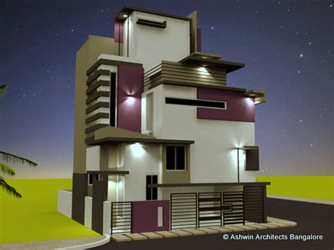 home lighting design bangalore beautiful front elevation house design by ashwin architects