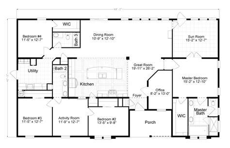 palm harbor mobile home floor plans view tradewinds floor plan for a 2595 sq ft palm harbor