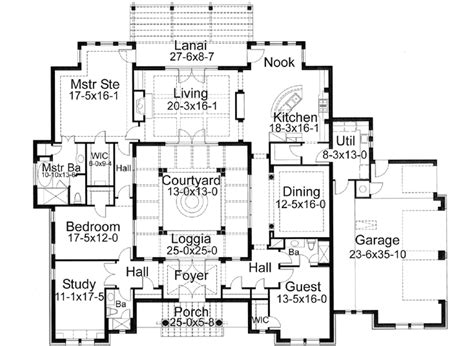 Spanish Villa House Plans spanish style house plans 3355 square foot home 1