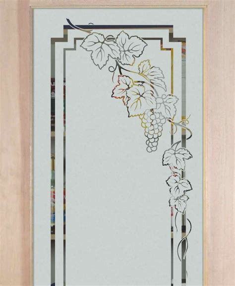 pantry door etched glass wine door glass sans soucie glass