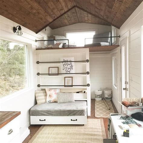 tiny house 2 bedroom white tiny house loft with bedroom guest bed