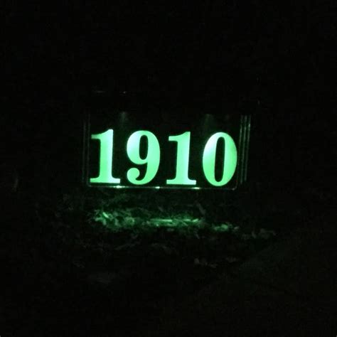 lighted address sign solar solar lighted address plaque