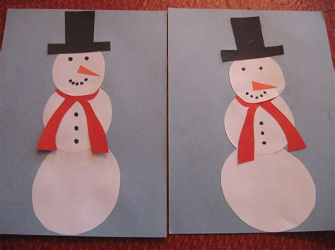 snowman paper crafts december 2010 kiddie crafts 365