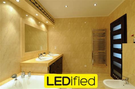 led lights for bathroom brighten up your bathroom with led lighting ledified