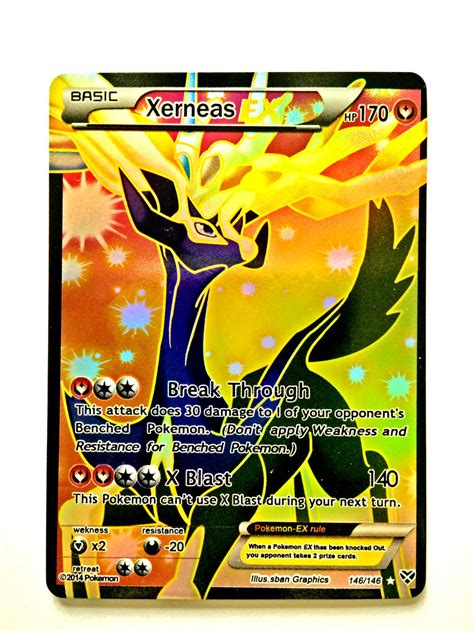 how to make cards ex handmade card xerneas basic ex hp 170 trading card