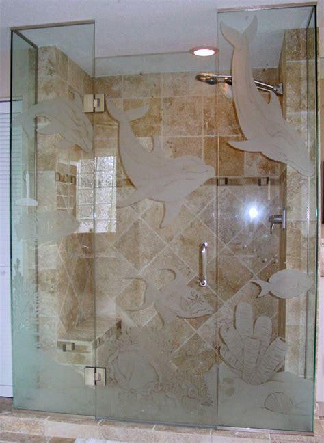 etched glass shower doors etched glass shower doors in bonita springs fl