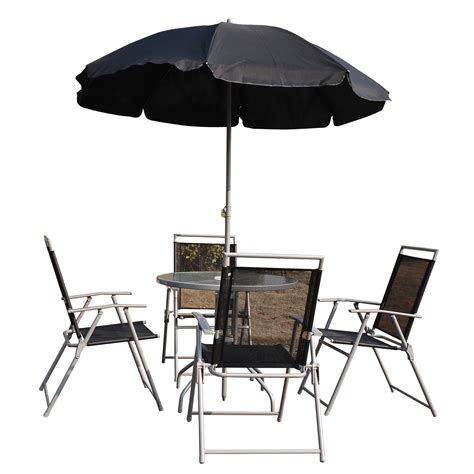 patio umbrella set patio table chairs umbrella set best choice products 6pc