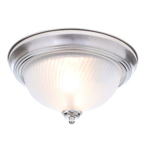 brushed nickel ceiling lights hton bay 2 light brushed nickel flushmount fzp8012a