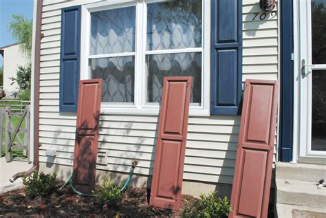 spray painting vinyl shutters seven town way live and learn lesson painting shutters