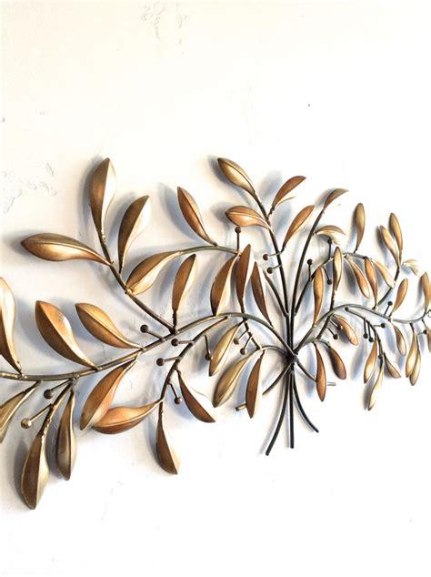 leaf wall gold metal wall gold decor leaf home