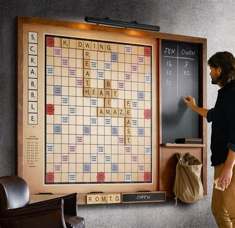 large scrabble wall scrabble the green