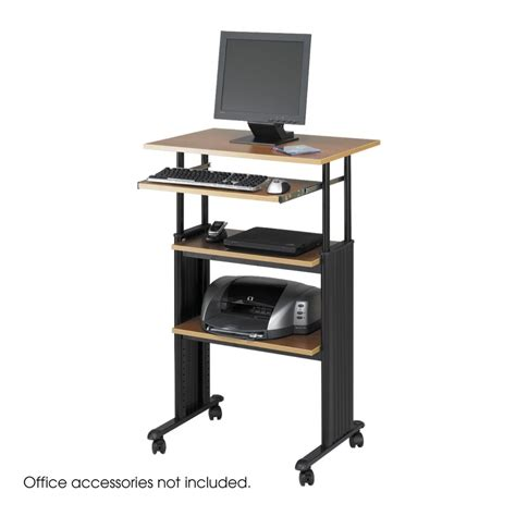 adjustable stand up computer desk stand up desk safco products muv stand up adjustable
