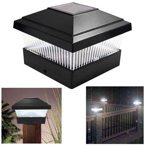 solar powered post lights for outdoors solar led powered light garden deck cap outdoor decking