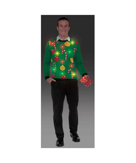 mens light up sweaters light up sweater mens costume shirt