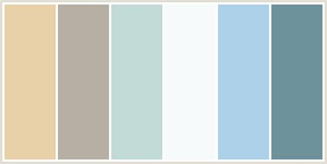 white blue color scheme colorcombo124 with hex colors e8d0a9 b7afa3 c1dad6