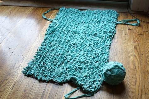 diy knit rug knitting a carpet runner fail merrypad