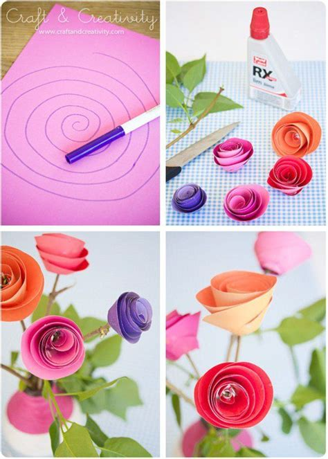 roses paper craft best 20 construction paper flowers ideas on