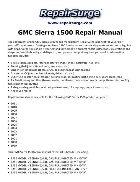 encontr 225 manual gmc sierra manual 2006 gmc sierra 1500 repair manual 1999 2011