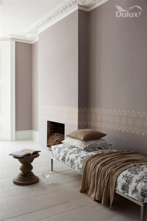 chalk paint dulux dulux chalk blush 1 with stencilled border like the