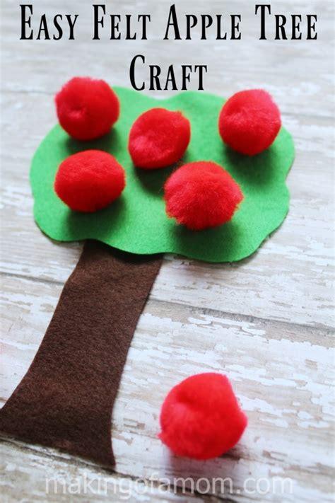 easy felt crafts easy felt apple tree craft of a