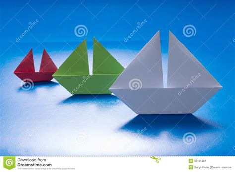 origami boats and ships paper ships sailing on blue paper sea origami boat paper
