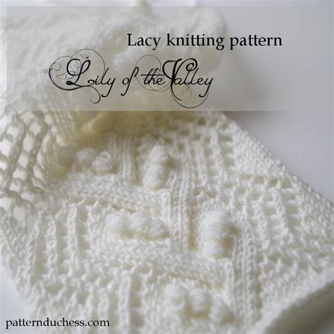 Knitted Lace Pattern With Nupps Pattern Duchess