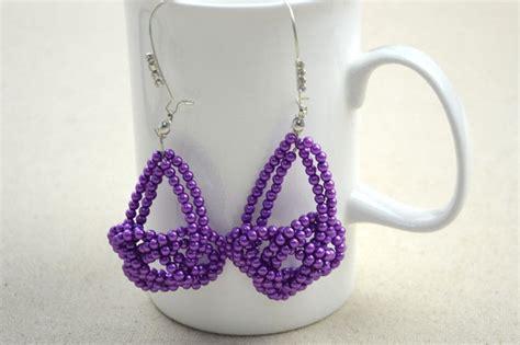 beaded earrings diy diy handmade earring in josephine knot pattern 183 how to