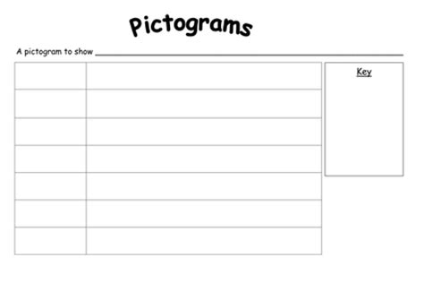 blank pictogram with key by rachyben uk teaching