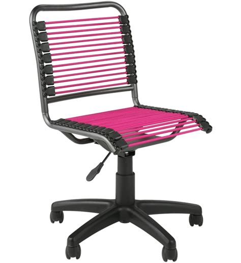Pink And Black Bungee Chair by Bungee Low Back Chair Pink And Black In Armless Office