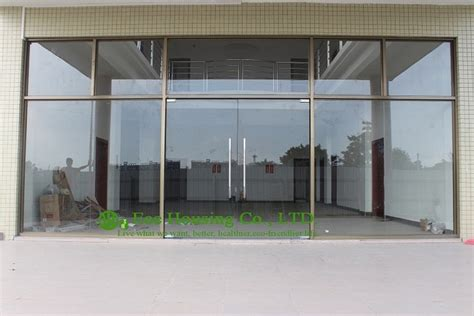 Aliexpress Com Buy China Manufacturer Commercial Exterior Commercial Frameless Glass Doors For Apartment Mm Tempered Glass Mordern Glass Door From