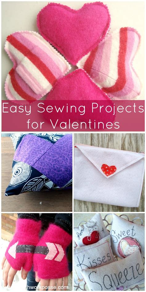easy sewing craft projects sewing valentines projects