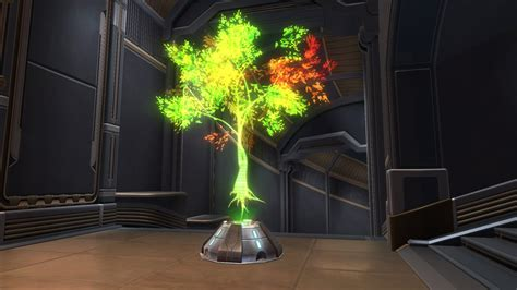 hologram decorations holographic tree green decoration swtor strongholds