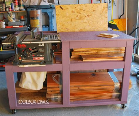 woodworking without a table saw table saw workbench with wood storage toolbox divas
