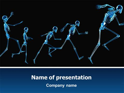 human skeleton presentation template for powerpoint and