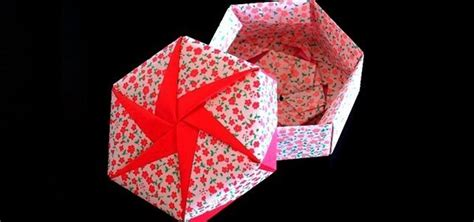 how to make a origami gift box how to make a hexagonal origami gift box 171 origami