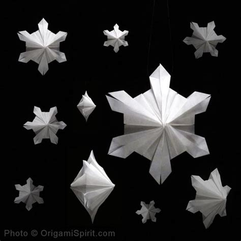 easy origami snowflake ornaments an origami snowflake