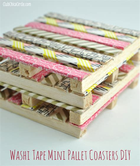 crafts and diy projects washi mini wood pallet diy coasters washi crafts