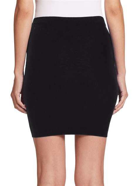 black knit skirt moschino wool knit skirt in black lyst