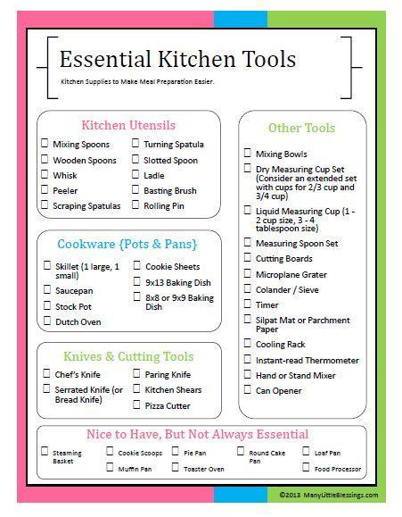 essential home items 17 best ideas about kitchen essentials list on
