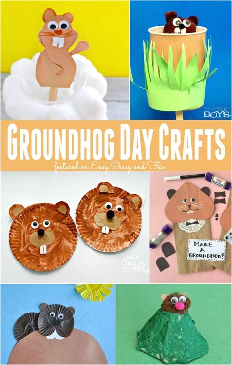 groundhog day crafts for groundhog day crafts for easy peasy and